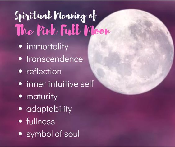 Pink Full Moon S Spiritual Meaning Moon Meaning Pink Moon Meaning Pink Moon