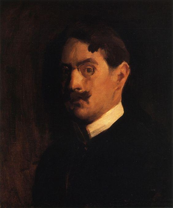 Edmund C. Tarbell. Autorretrato, 1889