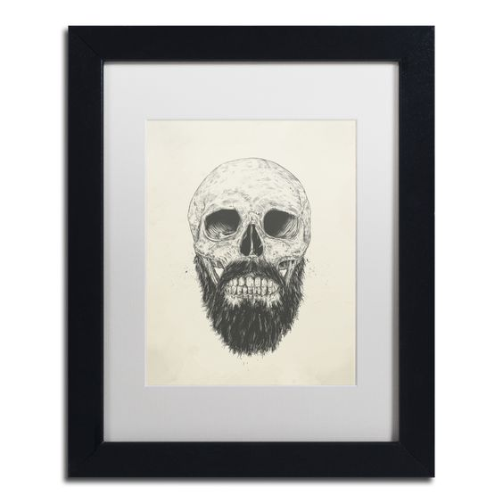 Balazs Solti 'The Beard Is Not Dead' Matted Framed Art