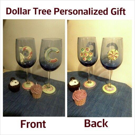 Dollar Tree Store: Glasses + Vinyl Decals