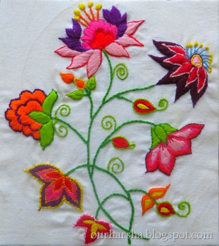 Beautiful hand embroidery designs