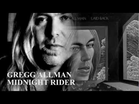 Gregg Allman Midnight Rider 1973 Music Memories Music Concert Midnight Rider