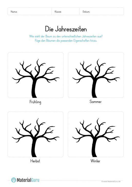 Jahreszeiten Jahreskreis Materialgur Jahreszeiten Arbeitsblatt Formen Vorschule Jahreszeiten Kindergarten