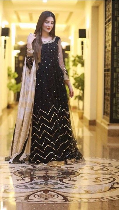 Pin By Zak Saiyed On Weddings Stylish Party Dresses Black Pakistani Dress Simple Pakistani Dresses