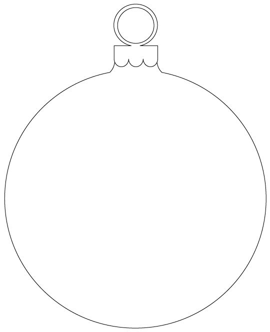 christmas ornament template - photo #3