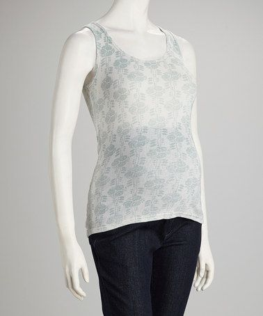 Take a look at this Gray Floral Ribbed Maternity Tank by Michael Stars on #zulily today!