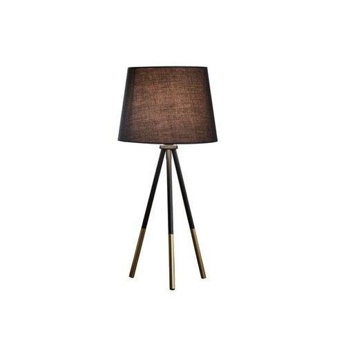 11 25 Traditional Metal Tripod Desk Lamp Black Ore International Stylish Table Lamps Black Table Lamps Decorative Table Lamps