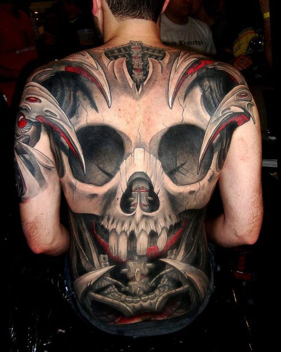 tattoo: Tattoo Ideas, 3D Tattoo, Tattoo Inspiration, Tattoo Designs, Body Art, Back Tattoo, Tattoos Piercings, Skull Tattoo Design, Awesome Tattoos