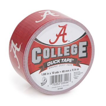 Bama duck tape :): Tape Crafts, Gift Ideas, Duck Tape, 10 Yards, Tape Prints, Brand Duct, Red Raider