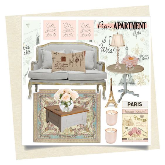 """""""Paris Appartment"""" by alaria ❤ liked on Polyvore featuring interior, interiors, interior design, home, home decor, interior decorating, Versace, Dollhouse, York Wallcoverings and Pillow Perfect"""