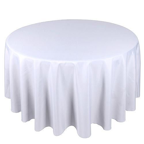 Find Great Deal On Your Wedding Linen For 120 Inch Round Tablecloths And Get Discount 100 Percent 90 Inch Round Tablecloth Round Tablecloth White Table Cloth