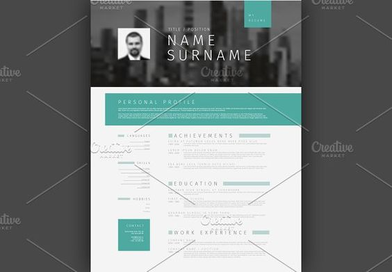 Visual Mosaic Resume Template by Orson on @mywpthemes_xyz Best - visual resume templates