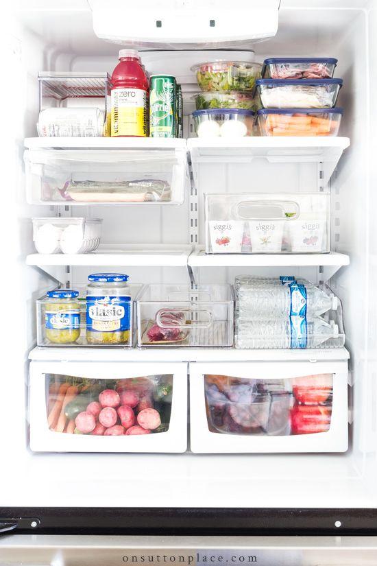 Easy Refrigerator Organization Ideas With Images Refrigerator