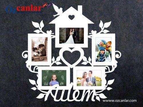 Sarmasik Ev Coklu Mdf Cerceve Framed Photo Collage Emoji Coloring Pages Photo Frame