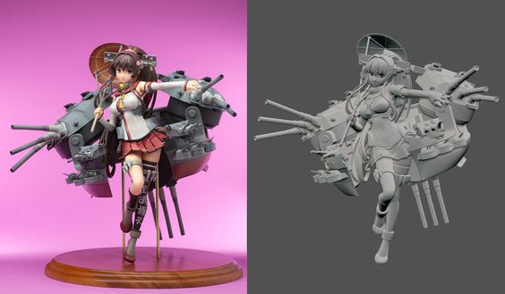 """SKaoru is sharing his latest figurine from the game """"Kankore"""", created in #ZBrush. The model is really gorgeous and he provides many different angles and close-ups. If you are a lover of Japanese-style figurines, it's a ZBrushCentral thread that you can't miss! http://zbru.sh/p3"""
