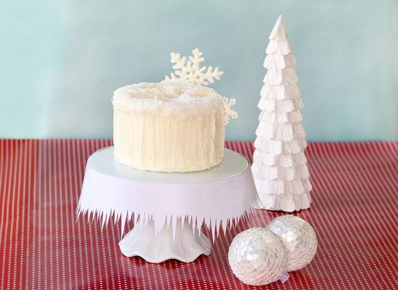 How to Make a Snow Angel Cake • CakeJournal.com