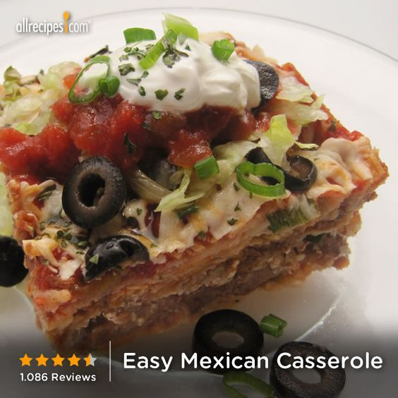 Easy mexican casserole, Mexican casserole and Mexicans on Pinterest