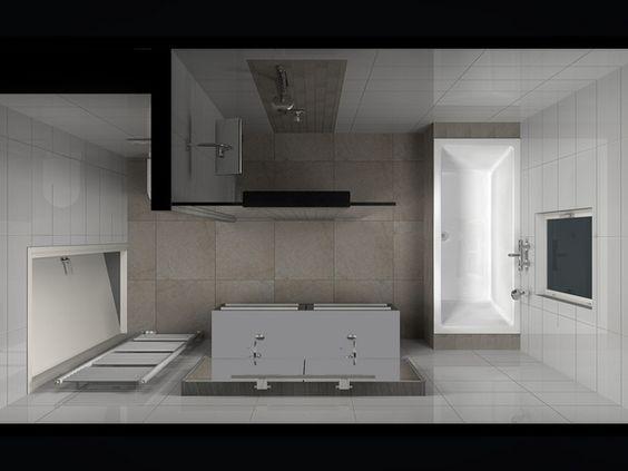 Badkamer idee voor indeling kleine badkamer badezimmer pinterest bathroom layout small - Idee van eerlijke lay outs ...