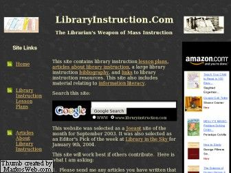 http://www.libraryinstruction.com/lessons.html