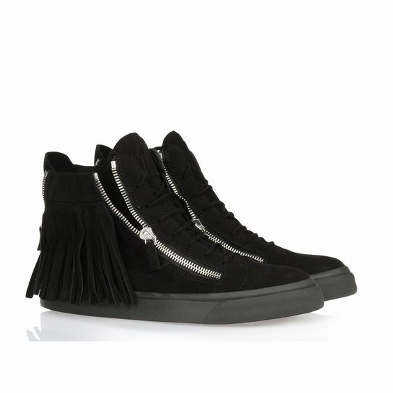 Giuseppe Zanotti Design Frange High Top Sneaker noir,baskets montants homme