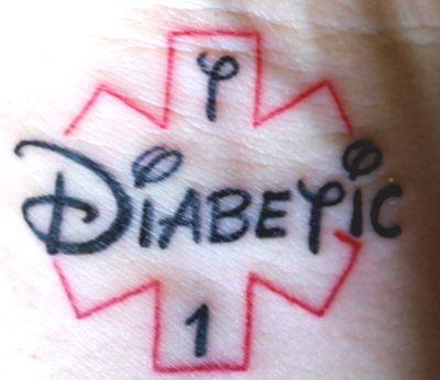 Type 1 diabetic tattoo ink artistry pinterest disney for Diabetic color changing tattoo ink