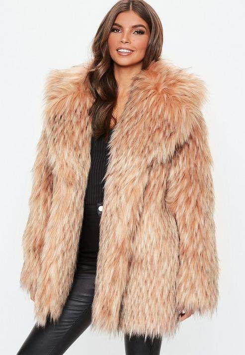 new photos quality on feet images of Blush Tipped Premium Faux Fur Collar Coat | Cute Tings in ...