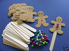 Details about 30 gingerbread man bookmarks kids craft kit for Best out of waste ideas for class 8