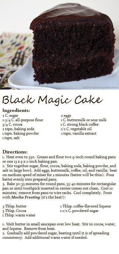 Pete Cooks : Recipe of the Week - Black Magic Cake sent in by @Tallfitmom45, Thanks Megan