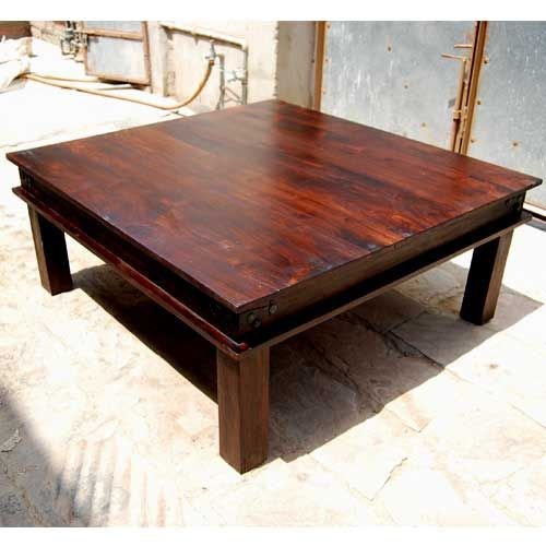 Coffee tables square coffee tables and coffee on pinterest for Traditional square rustic coffee table design
