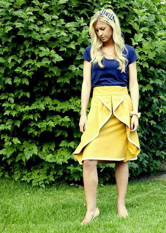 DIY pinwheel skirt