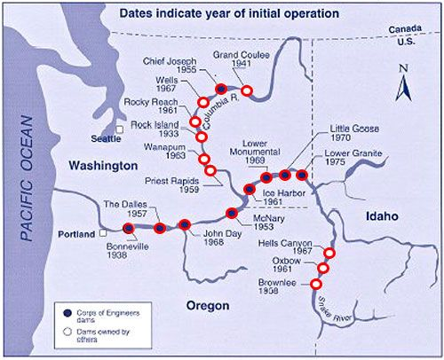 Dams Of The Pacific Northwest Map I Could Live Here: Map Of Pacific Northwest At Usa Maps