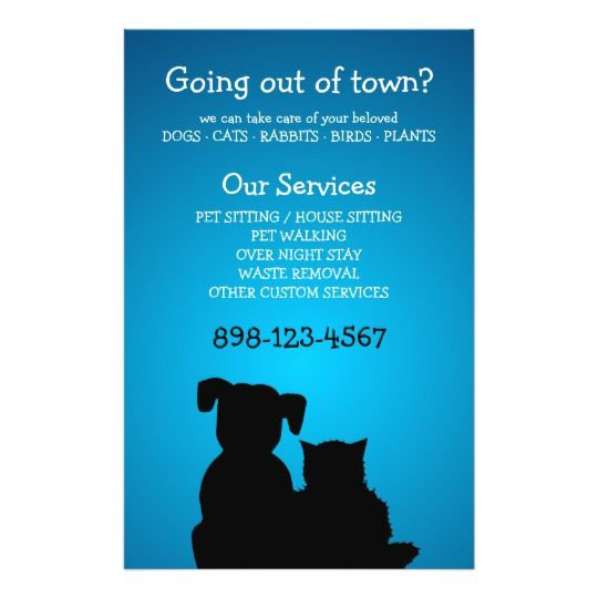 Pet Care Pet Sitting Animal Shelter Flyer Zazzle Com Pet
