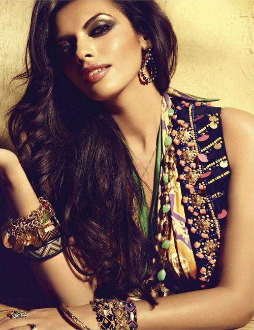 Gabriela Bertante   Dirk Bader   Vogue India May 2012   'GypsyRose'