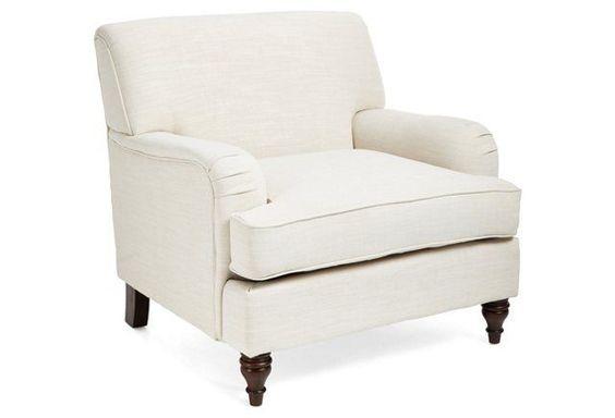 Rose Roll-Arm Chair, Cream