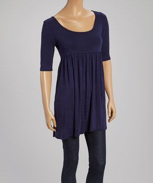 Look what I found on #zulily! Navy Scoop Neck Tunic by MOA Collection #zulilyfinds