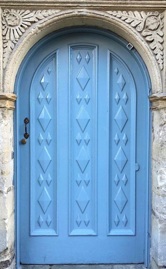 Blue door in Oxford, England