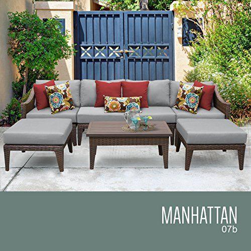 Manhattan 7 Piece Outdoor Wicker Patio Furniture Set 07b U003eu003eu003e Be Sure To  Check