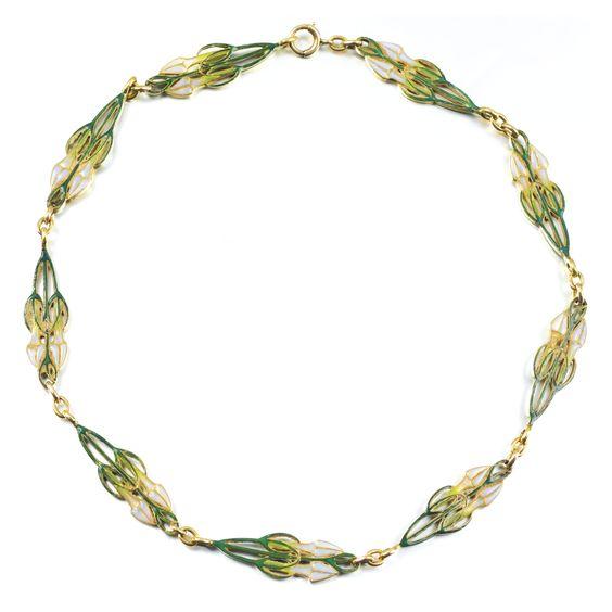 Gold and plique-à-jour enamel chain, Lalique, early 20th century | lot | Sotheby's