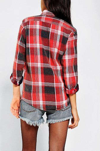 Urban renewal acid wash flannel shirt shirts flannel for How to wash flannel shirts
