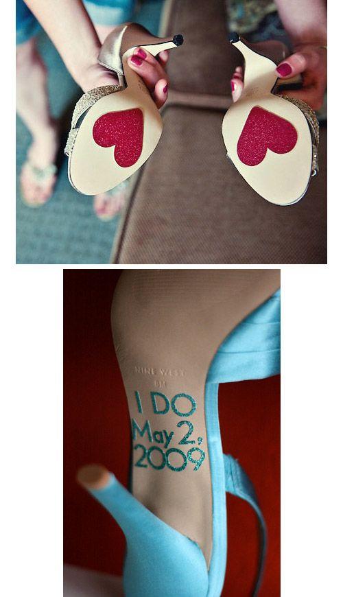 Customiser ses chaussures - La mariée