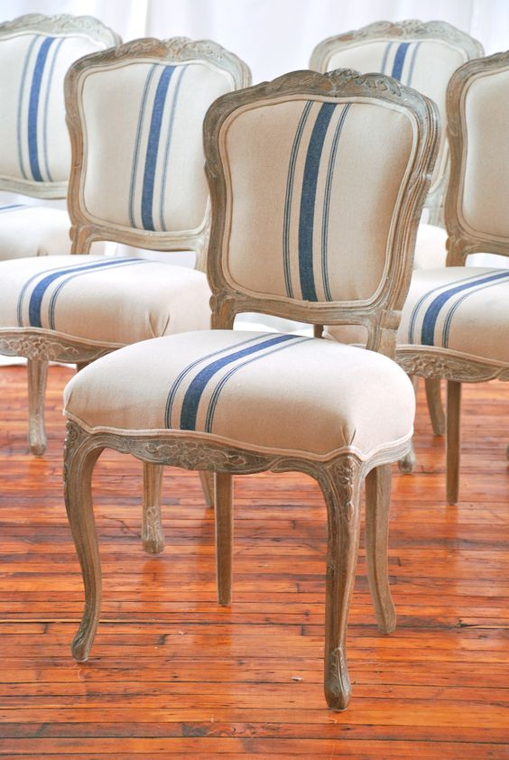 French Chairs French And Grain Sack On Pinterest