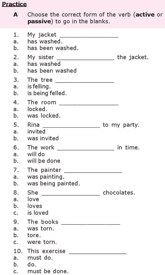 Grade 8 Grammar Lesson 21 Passive verb forms (1) Grade 8 Grammar ...