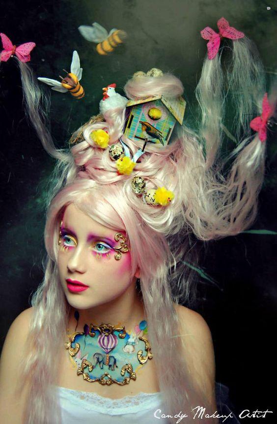 Terrifiants Maquillages, Superbes Maquillages, Artistique, Spakman Visagiste, Coiffures Shooting, Coiffes Originales, Maquillage Oiseau, Trop Étrange,
