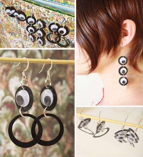 Googly Eye Earrings | 24 Eye-Catching Googly Eye DIYs