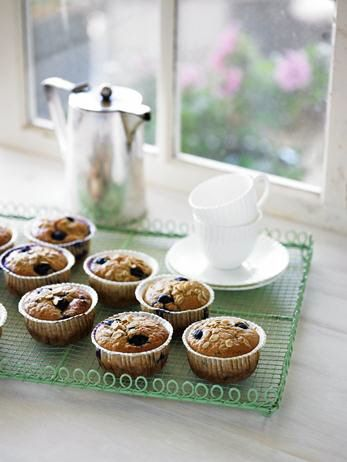 Banana, Oat and blueberry muffins healthy recipe organic wholefoods