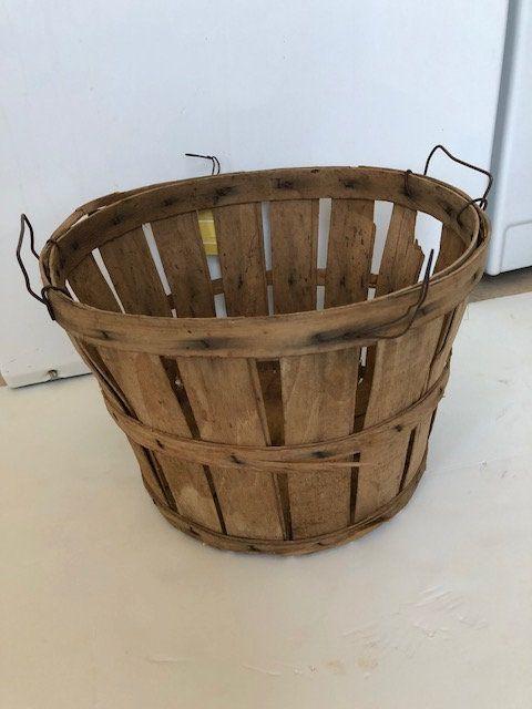 Bushel Basket Old 50s Or 60s Vintage Bushel Basket Apple Basket