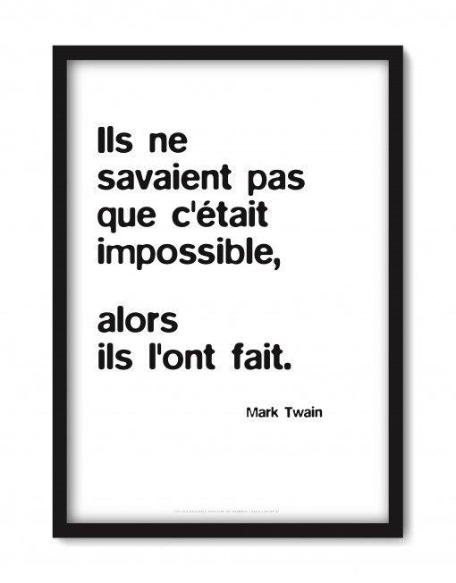 Affiche Mark Twain ®Olivier Dubreuil