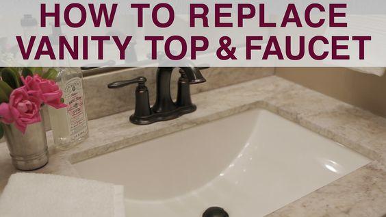 Diy Bathroom Vanity Replacement Diy Bathroom Vanity Bathroom Sink Diy Diy Vanity
