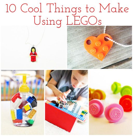 10 cool things to make using legos via for Cool things to make and do