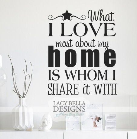 Quot What I Love Most About My Home Is Whom I Share It With